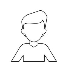 man young tshirt stylish thin line vector image