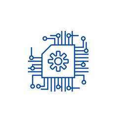micro schemeaiartificial intelligence line icon vector image