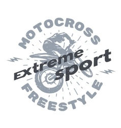 Motocross extreme sport vector