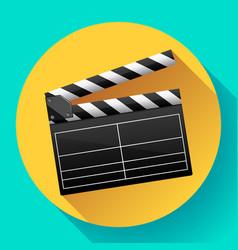 Movie clapper board maker vector
