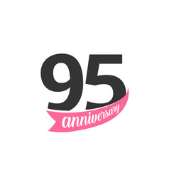 ninety fifth anniversary logo number 95 vector image