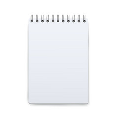 notepad mockup open on blank piece paper small vector image