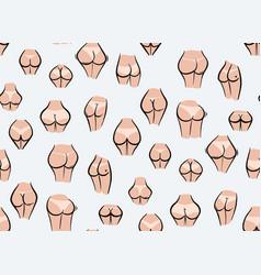 Nude ass women naked butt panties art bikini vector