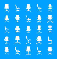 office chair icons set simple style vector image