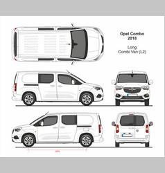 Opel combo combi van l2 2018-present vector
