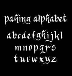Pahing alphabet typography vector