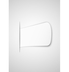 Paper inserted into paper vector