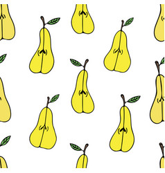 Pattern with pears vector