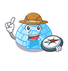 Photographer igloo ice house isolated on mascot vector
