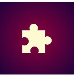 Puzzle Icon on Internet Button Original vector image
