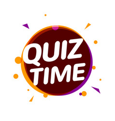quiz time icon concept sign ask game vector image