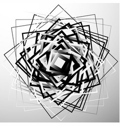 Random chaotic squares abstract geometric element vector