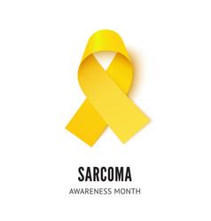 Sarcoma cancer awareness ribbon vector