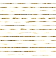 Seamless pattern of golden lines vector
