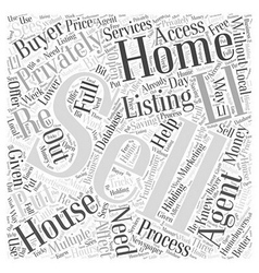 Selling a Home Privately Word Cloud Concept vector