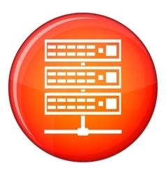 Servers icon flat style vector