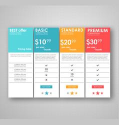 Set offer tariffs ui ux banner for web app vector