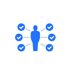 Skills capability icon on white vector