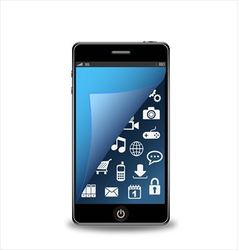 Smartphone with applications vector image