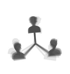 Social media marketing sign gray icon vector
