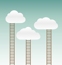 Stairs leading to the clouds vector
