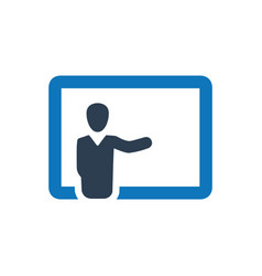 Teaching conference icon vector