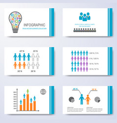 template for presentation slides vector image