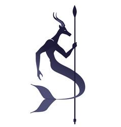 tribal zodiac capricorn animal half male goat vector image