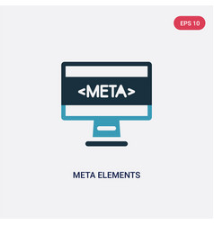 Two color meta elements icon from technology vector