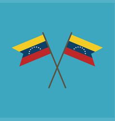 Venezuela flag icon in flat design vector