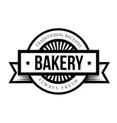 Vintage retro bakery logo badge vector image