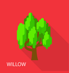 Willow icon flat style vector