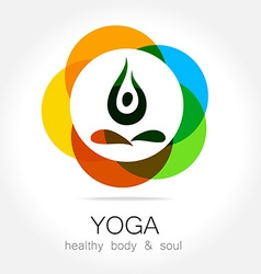 yoga health body soul vector image