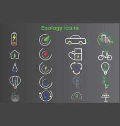 20 set ecology icon design vector image