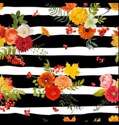 Autumn nture seamless pattern floral background vector