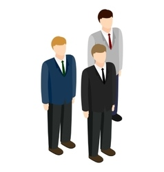 Businessmen icon isometric 3d style vector image vector image