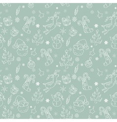 christmas elements seamless nocolor blue vector image vector image