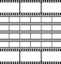 Film strips seamless pattern retro background vector image vector image