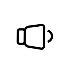 low level volume icon vector image vector image