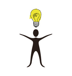 people with idea icon stock vector image vector image