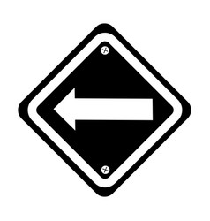 traffic signal with left arrow vector image