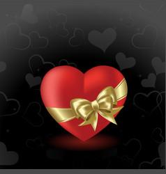 Valentine's heart vector image vector image