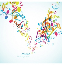 abstract background with tunes vector image vector image
