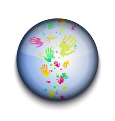 Hand prints app icon vector image vector image