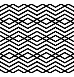 Modern zigzag contrast geometric seamless pattern vector image vector image