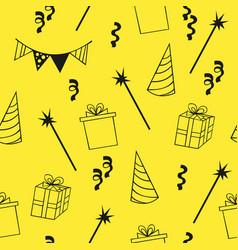 Seamless birthday pattern decorative background vector