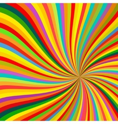 Abstract Colorful lines rotation Background vector image vector image