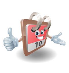 desk calendar mascot vector image
