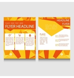 Geometric flyer template vector image vector image