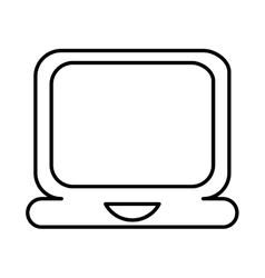 laptop lineal icon design vector image vector image